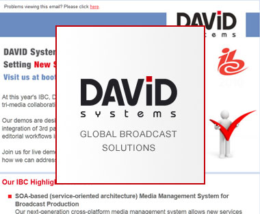 Newsletter Erstellung<br>David Systems