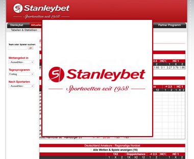 Stanleybet Deutschland / XML Quotenintegration